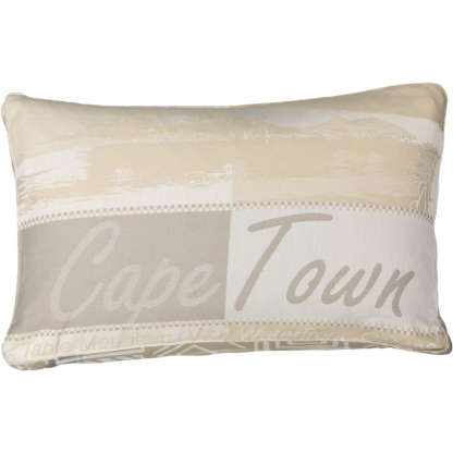 beige cushion cover Cape Town African pattern