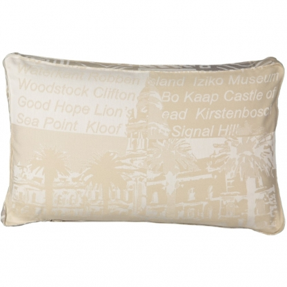 beige cushion cover African pattern
