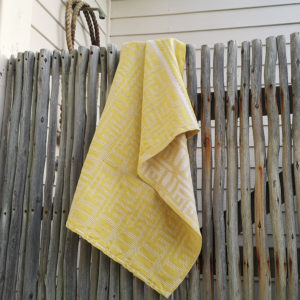 Kuba Cotton Waffle Hand Towels – Yellow