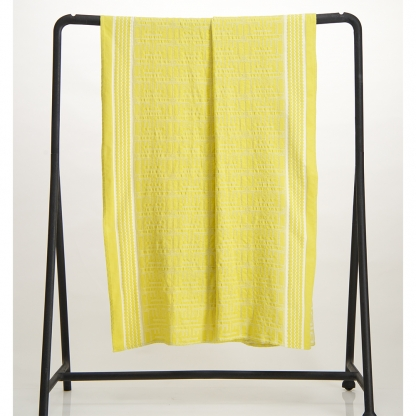 Cotton jacquard bath mat yellow