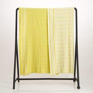 Kuba Cotton Waffle Throw – Yellow