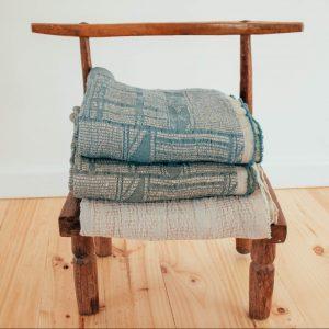 Linen / Cotton Bogolan Bed Throws