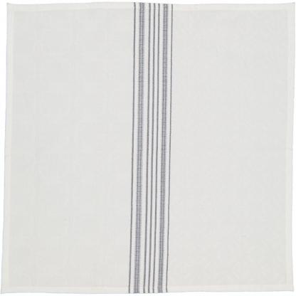 jacquard napkins white navy stripes
