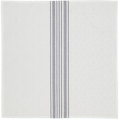 jacquard napkins white blue stripes