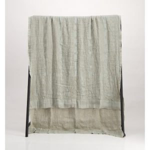 Bogolan  Bedroom Linen Throw – Celadon shade on Linen