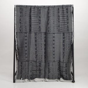 Bogolan Bedroom Cotton Throw – Black/Ecru