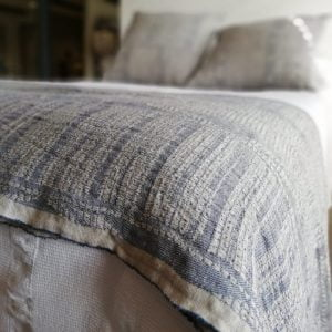 Bogolan Linen Throw – Indigo