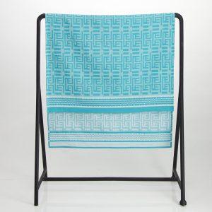 Kuba Cotton Waffle Bath Sheet – Turquoise