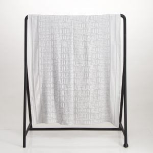 Kuba Cotton Waffle Throw – Light Grey