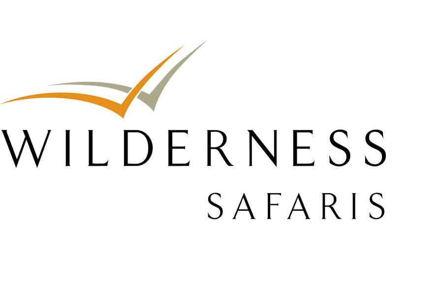 Wilderness luxury safari lodge logo
