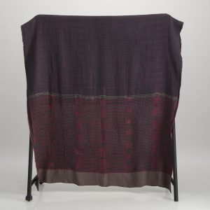 Bogolan Linen Throw – Lilac on Charcoal