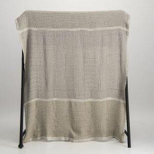 Bogolan  Bedroom Linen Throw – Desert on Natural