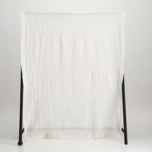 Bogolan Linen Throw – Pearl