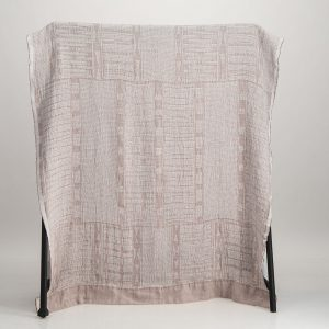 Bogolan Linen Throw – Dusty pink