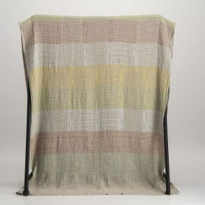 Bogolan  Bedroom Linen Throw – Pastel