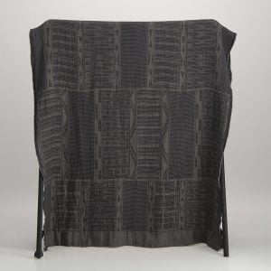 Bogolan Linen Throw – Anthracite