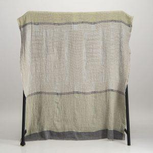Bogolan Linen Throw – Agate on Natural