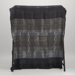 Bogolan Linen Throw – Metallic