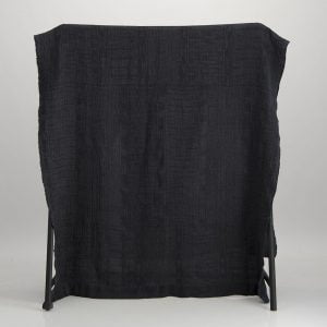 Bogolan Linen Throw – Black