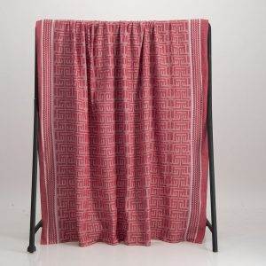 Kuba Cotton Waffle Throw – Red