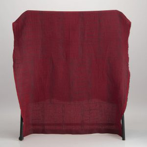 Bogolan Cotton Linen Throw – Black on Red