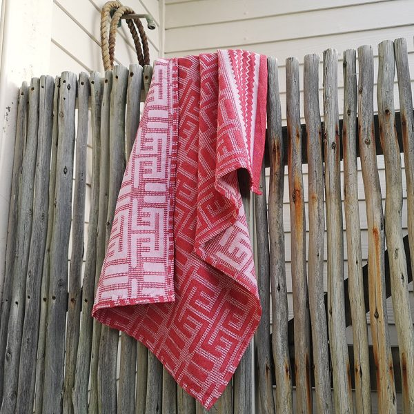 100% cotton jacquard woven Kuba hand towel with ethnic designs
