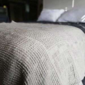 Bogolan Linen Throw – Natural Linen