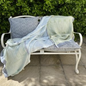Bogolan Lounge Throw – Agate on White