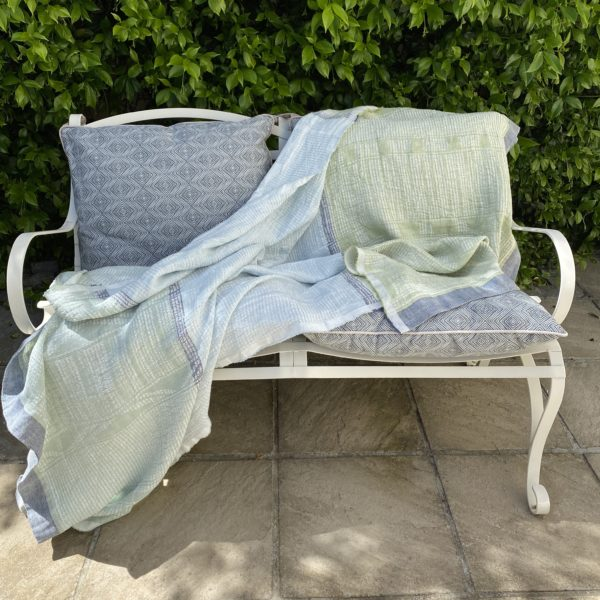 A blanket laid over a chair