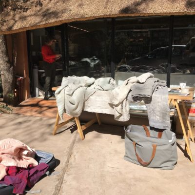 African Jacquard products in Lesley Carstens home linen store