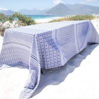 100% Cotton Penta Indigo Tablecloth