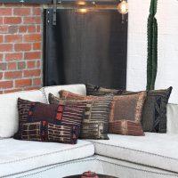 Metallic Bogolan Cushion Cover